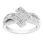 1/10 ct Diamond Bypass Ring