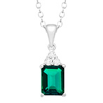 1 1/2 ct Emerald Pendant