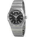Omega Constellation Chronometer Black Dial Stainless Steel Men's Watch