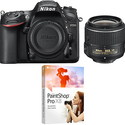 Nikon D7200 DX 24.2MP DSLR Camera w 18-55mm VR II Lens & Paintshop Pro X8 Bundle