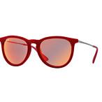 圆形红色太阳镜