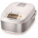 5 Cup (uncooked) Microcomputer Controlled Rice Cooker - Stainless Steel/White - SR-ZG105
