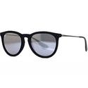 Ray Ban RB 4171 6075/6G Erika Velvet Black/Gray Mirror Round Sunglasses