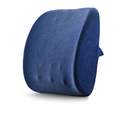 Balichun Lumbar Back Pain Support Pillow Lumbar Cushion(Jazz Blue)