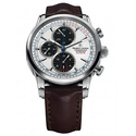 Maurice Lacroix Pontos Automatic White Dial Brown Leather Men's Watch