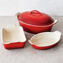 Le Creuset Cerise 4-Piece Stoneware Set