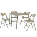 Cocco 5 pc Antique Linen Folding Table/Chair Set