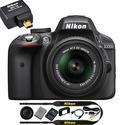 Refurbished Nikon D3300 24.2MP DSLR Camera w/ 18-55mm VR II Lens + Wifi Adapter
