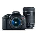 Canon EOS Rebel T6i EF-S 18-55mm IS STM & EF-S 55-250mm IS STM Lens Refurbished