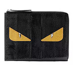 Fendi Monster Snakeskin Clutch