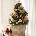 Birch and Burlap Christmas Tree