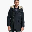 Lucky Brand Men's Navy Fur Lined Parka