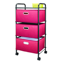 Essential Home 3 Drawer Cart – Cerise Ombre