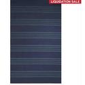 Flatweave Stripe Pattern Blue/ Blue Area Rug