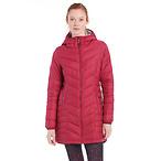 红色长款夹克