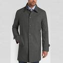 Tommy Hilfiger Charcoal Modern Fit Raincoat