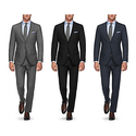 Verno 100% Wool Men's Classic Fit Suits (2-Piece)