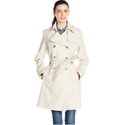 Via Spiga Women's Double Breasted Trench Coat with Belt