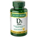 Nature's Bounty Vitamin D3 2000 IU 240 Soft Gels