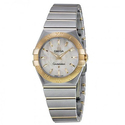 Omega Constellation Mother of Pearl Stainless Steel and 18kt Yellow Gold Ladies Watch