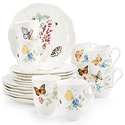 Lenox Butterfly Meadow 18-Piece Dinnerware Set + 2 Bonus Mugs