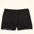 Lace-Trim Cotton Short