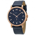 Marc By Marc Jacobs Baker Navy Dial Navy Leather Ladies Watch