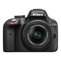 Nikon D3300 DSLR Body w/18-55mm f/3.5-5.6G VR II Lens and Free Accessories