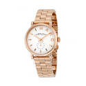 Marc By Marc Jacobs Silver Dial Rose Gold-tone Ladies Watch