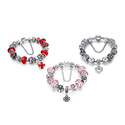 Genuine Murano Glass Charm Bracelets Made with Swarovski Elements