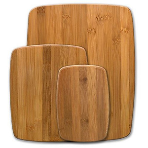 Farberware Classic 3-Piece Bamboo Cutting Board and Serving Set