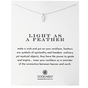 "Dogeared ""Reminders"" Light As A Feather Silver Necklace, 18"""