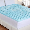 """Authentic Comfort 3"""" Orthopedic 5-Zone Foam Mattress Toppers"""