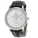 OMEGA De Ville Prestige Silver Dial Black Leather Men's Watch