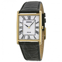 Seiko Solar White Dial Black Leather Men's Watch