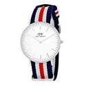 Daniel Wellington Women's Canterbury 0606DW Blue Nylon Quartz Watch