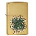Zippo Four Leaf Clover Emblem Pocket Lighter