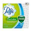 Puffs Plus Lotion With The Scent Of Vicks Facial Tissues 24 Cube Boxes