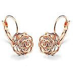 Crystal in a Rose Earrings