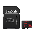 SanDisk Ultra 128GB microSDXC UHS-I Card with Adapter