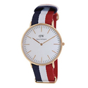 Daniel Wellington Men's Cambridge 0103DW Multi Nylon Quartz Watch