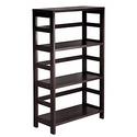 Winsome Wood 3-Shelf Wide Shelving Unit - Espresso