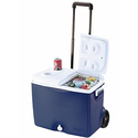 Rubbermaid 45 Qt. Blue Wheeled Cooler