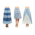 Light Wash Denim Midi or Maxi Skirt
