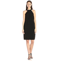 Nine West Women's Slvless Shift Dress with Neck Detail