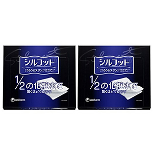 Unicharm Silcot Uruuru Sponge Facial Cotton 3-Pack