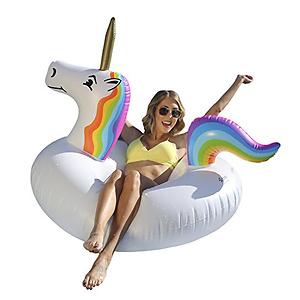 GoFloats Unicorn Party Tube Inflatable Raft