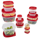 Rubbermaid Premier 28-Piece Food Storage Set, Red