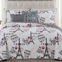 Paris-Themed Quilt, Comforter, or Bed-in-a-Bag Sets from $39.99