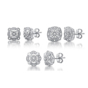 1/6 CTTW Diamond Vintage Style Stud Earrings